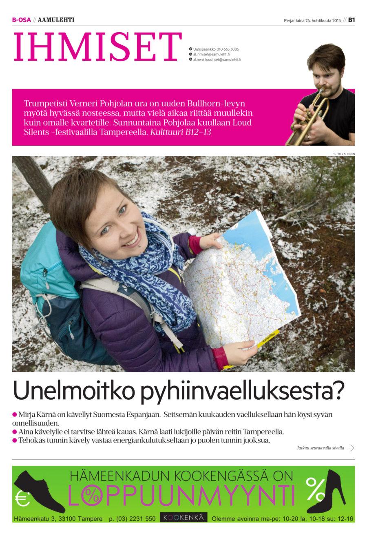 kävelijä kirjailija mirja kärnä Aamulehti